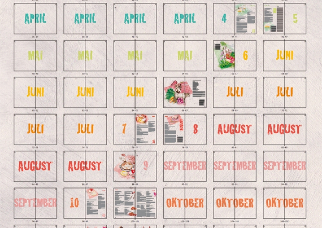 Kalender Rücken